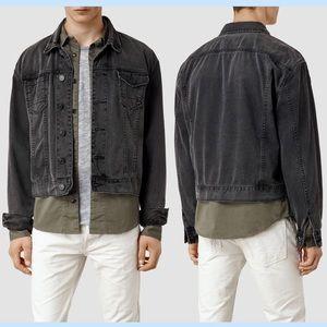 NWOT All Saints Oversized Boxy Black Denim Jacket